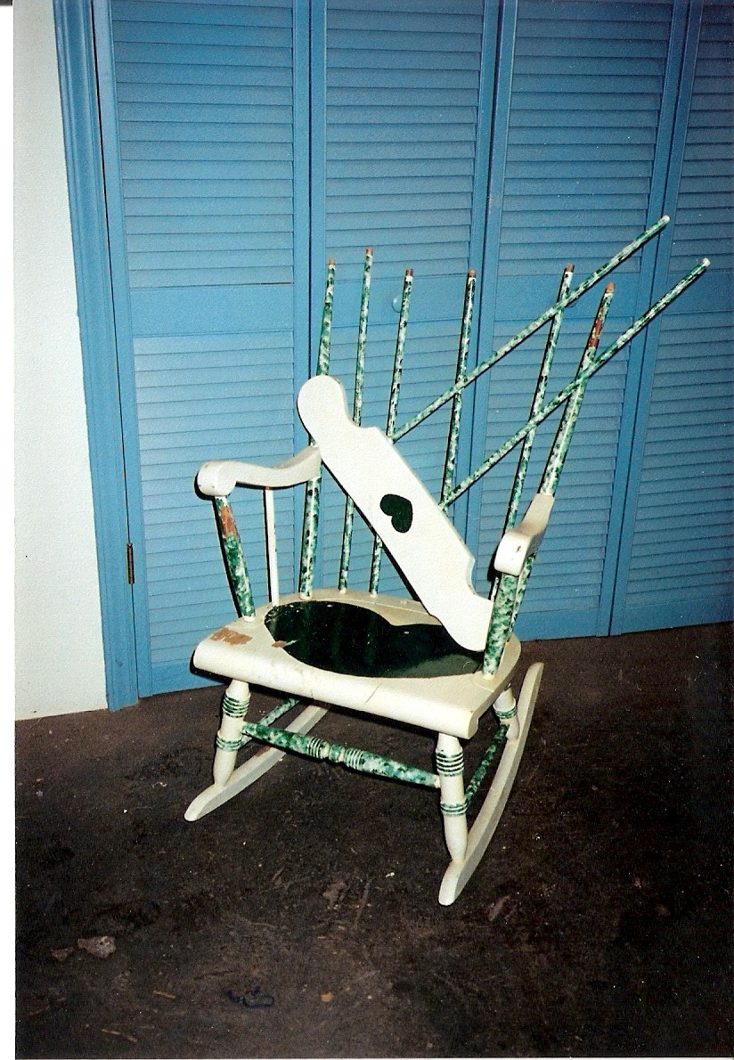 A wonderful chair with a broken seat